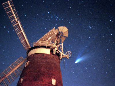 Hale Bopp Comet in Sky Over Thaxted Essex Photographic Print
