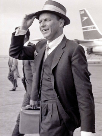 Frank Sinatra Seen Here Arriving at Heathrow Airport in the Summer of 1961 Photographic Print