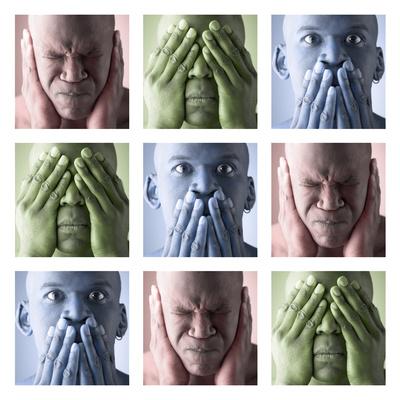 Hear No Evil, See No Evil, Speak No Evil Photographic Print