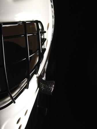 Black and White Goalie Mask Photographic Print