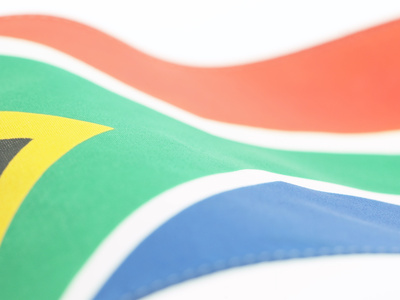 South African Flag Photographic Print