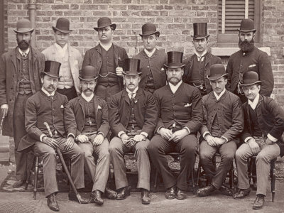 The Australian Cricketing Team of 1888 Pose in Formal Dress Photographic Print