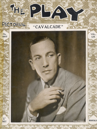 """Noel Coward at the Time of His Play """"Cavalcade"""" in 1931 Photographic Print"""