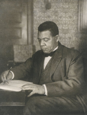Booker T Washington American Educator Born a Slave Photographic Print by  Underwood & Underwood