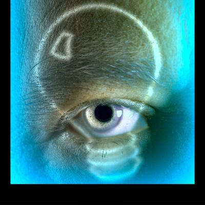 Light Bulb over Eye Photographic Print