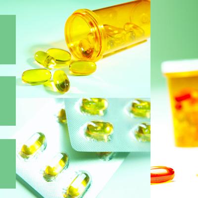 Medicine Pills and Bottles Photographic Print