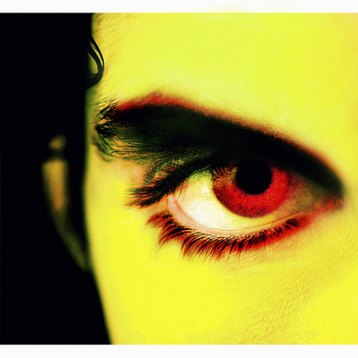 Close-up of Person's Red Eye Photographic Print