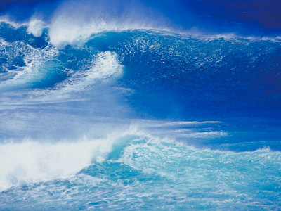 An Ocean Wave in Hawaii Photographic Print