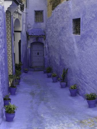 Blue Walkway, Morocco Photographic Print by Pietro Simonetti