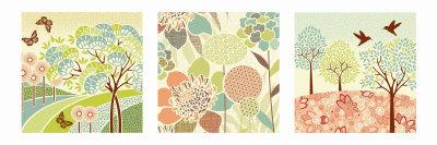 Summer Patterns Triptych Print