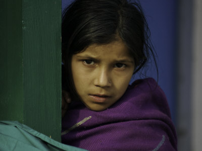 Young Girl's Face, Nepal Photographic Print by David D'angelo
