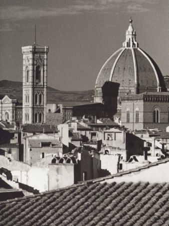 Panorama of Florence with the Belltower of Giotto and the Dome of the Cathedral Photographic Print