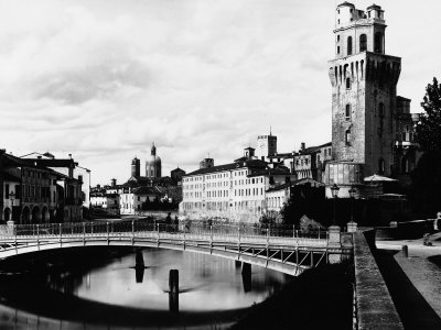 View of the Metallic Bridge of Padua Built in 1881 to the Right the Tower of the Observatory Photographic Print