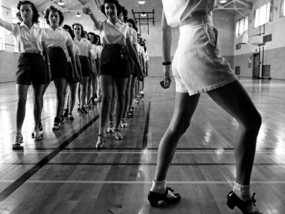 Tap Dancing Class at Iowa State College, 1942 Photo by Jack Delano
