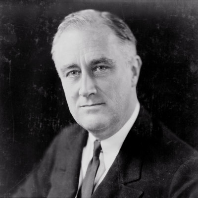 Franklin Delano Roosevelt, circa 1933 Foto af Elias Goldensky