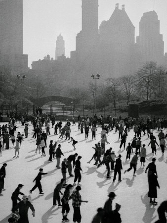 Iceskating in New York Photographic Print