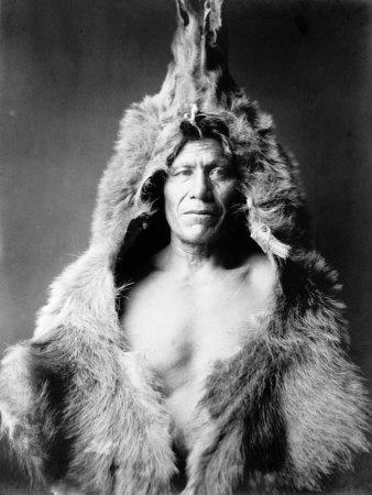 Bear's Belly, Arikara Indian Fotografía por Curtis, Edward S.