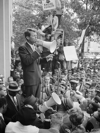 Attorney General Bobby Kennedy Speaking to Crowd in D.C. Premium Poster