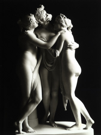 The Three Graces, Gallery of the Hermitage, Saint Petersburg Fotografiskt tryck