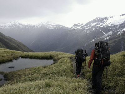 Mountaineering in New Zealand Photographic Print by David D'angelo
