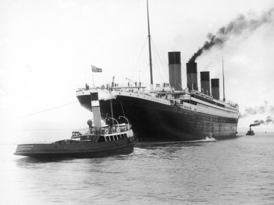 The Titanic Leaving Belfast Ireland for Southampton England for Its Maiden Voyage New York Usa Photographie