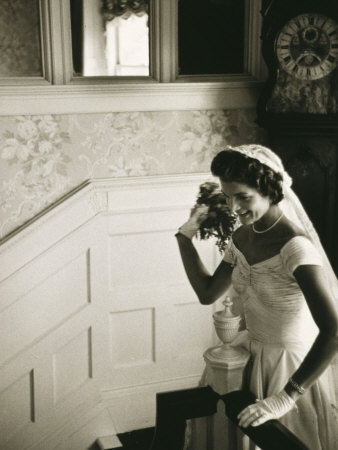 Jackie Kennedy Throwing the Bouquet Photo by Toni Frissell