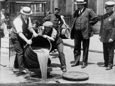 Prohibition Raid, New York City Photo