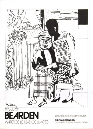 Watercolors and Collages, 1978, unsigned Collectable Print by Romare Bearden