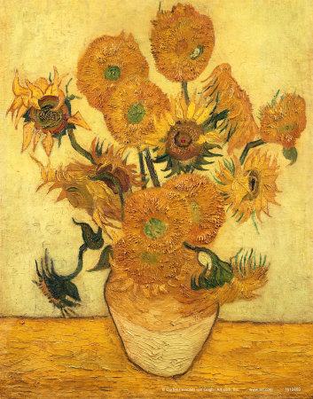 Vase of Fifteen Sunflowers, c.1889 Plakater af Vincent van Gogh