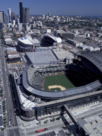 Safeco and Qwest Fields, Seattle, Washington, USA Photographic Print by William Sutton