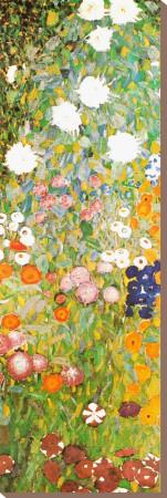 花の庭(詳細) キャンバスプリント : グスタフ・クリムト