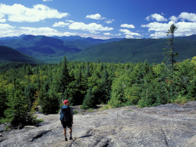 Hiking on Mt. Crawford, New Hampshire, USA Photographic Print by Jerry & Marcy Monkman