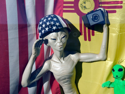 Alien With Camera, Roswell, New Mexico, USA Fotografie-Druck