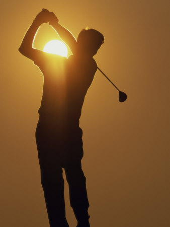 Sunset Golf Silhouette Photographic Print