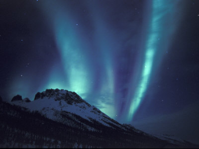 Aurora Borealis Above the Brooks Range, Gates of the Arctic National Park, Alaska, USA Photographic Print by Hugh Rose