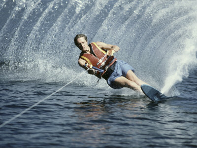 Young Man Wakeboarding Photographic Print