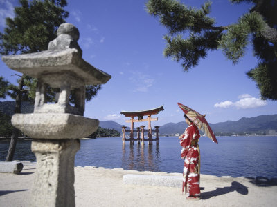 Torii Itsukushima Shrine, Miyajima Island, Japan Photographic Print