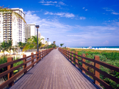 Boardwalk, South Beach, Miami,