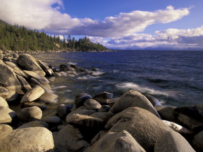 Shoreline of Boulders, Lake Tahoe, California, USA Photographic Print by Adam Jones