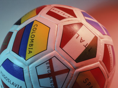 Close-up of a Soccer Ball Photographic Print