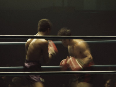 Boxers Seen from Between the Ropes Photographic Print