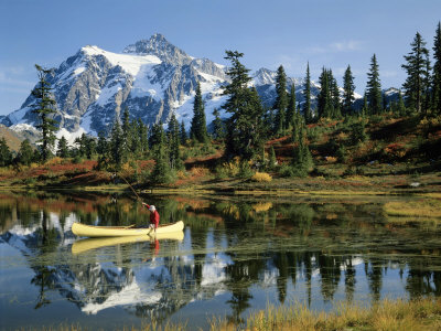 Picture Lake Mount Shuksan, Washington, USA Photographic Print