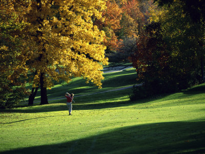 Autumn Golfing Photographic Print