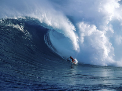 surfer in large waves