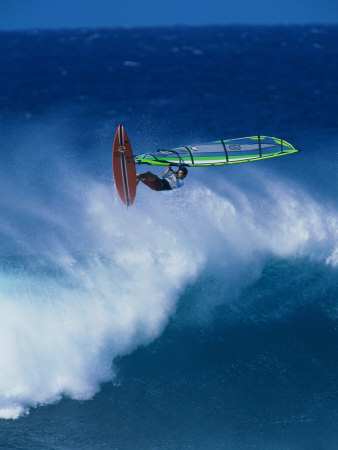 Person Windsurfing in the Sea Photographic Print