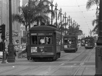 Canal Street Trolleys Photographic Print