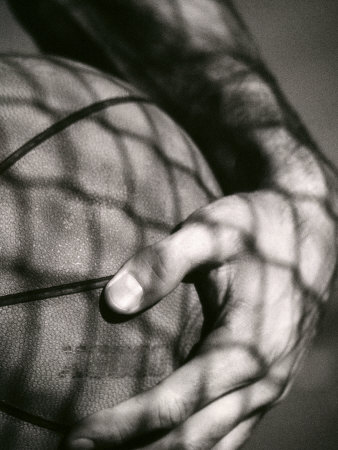 Holding the Basketball Photographic Print