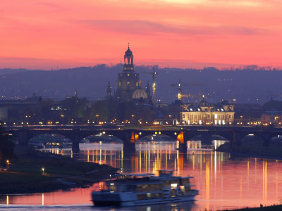 Sunset in Dresden Fotografie-Druck