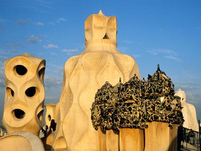 Antonio Gaudi's La Pedrera, Casa Mila, Barcelona, Spain Photographic Print