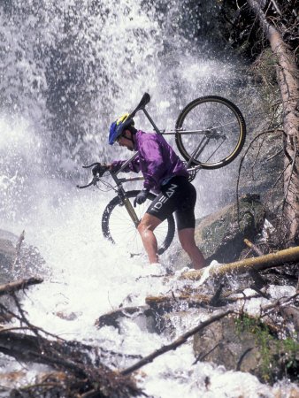 Mountain Biking, Vail, Colorado, USA Photographic Print by Lee Kopfler